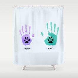 Dog Parents Shower Curtain