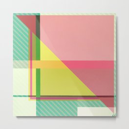 Green Line - pink graphic Metal Print