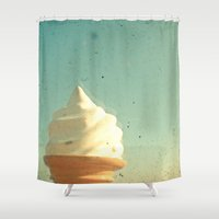 ice cream Shower Curtains featuring Ice Cream by Cassia Beck
