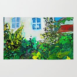 small white house Rug