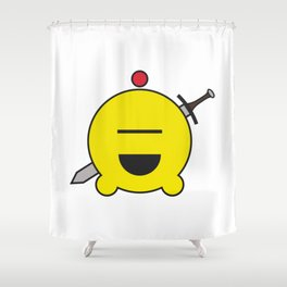 allien emoji, warrior, yellow master Shower Curtain