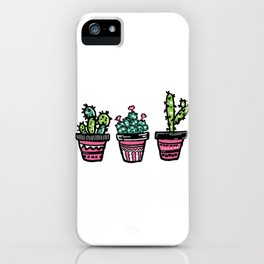 Succulents In Pink Pots iPhone Case