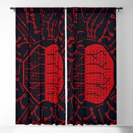 Quantum Computing | Red and Black | HODL Collection 2020 Blackout Curtain
