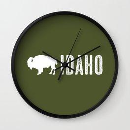 Bison: Idaho Wall Clock