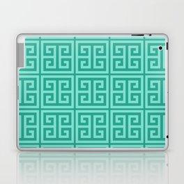 Mermaid Blue Greek Key Pattern Laptop & iPad Skin