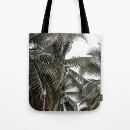 Green palm trees Tote Bag