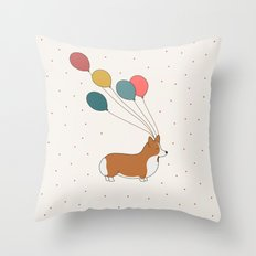 HAPPY NEW YEAR CORGI Throw Pillow