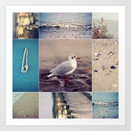 Beach Impressions Art Print