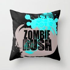 Zombie Rush - 2012 Throw Pillow
