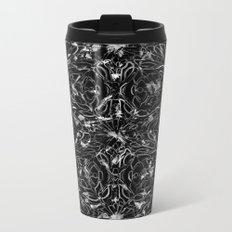Black and white astral paint 5020 Metal Travel Mug
