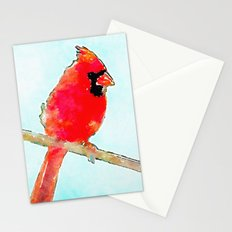 Northern Cardinal Modern Watercolor Art Stationery Cards