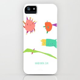 Little Creatures from the Sea iPhone Case