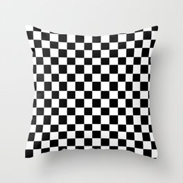 Checkerboard (SF) - (Collection Black & White) Throw Pillow