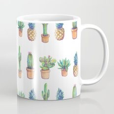 cactus and pineapples white! Mug