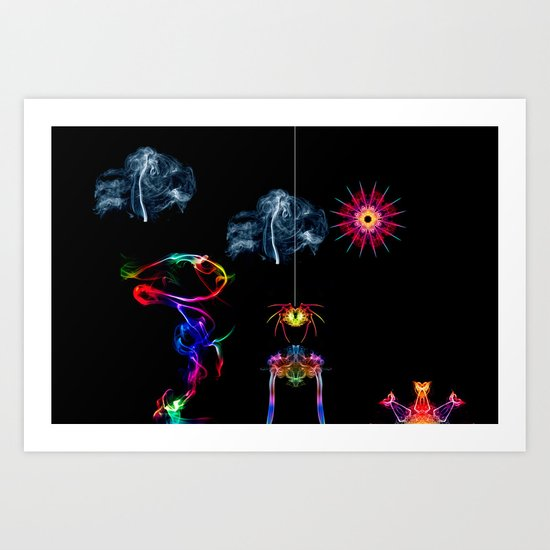 The Enchanted Smoke Spider Art Print