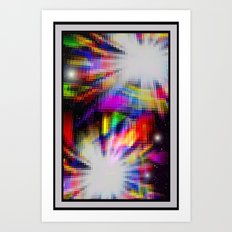 Double star. Art Print