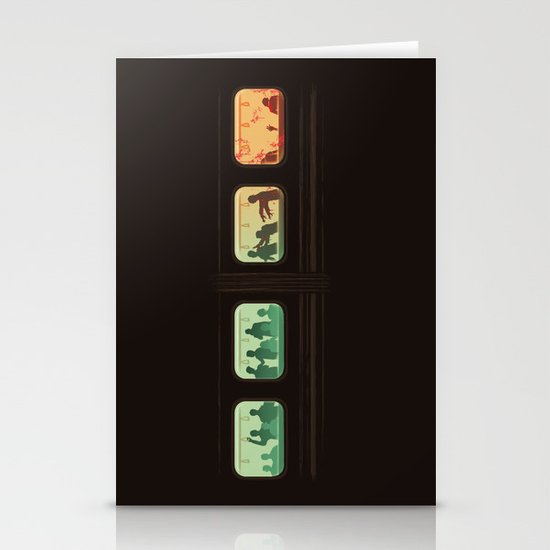 Ground Zero - Zombie Subway Stationery Cards