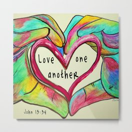 Love One Another John 13:34 Metal Print