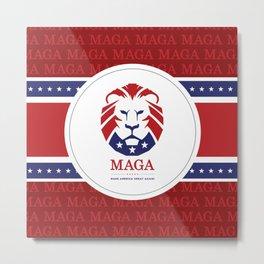 MAGA Make America Great Again USA Lion logo red Metal Print
