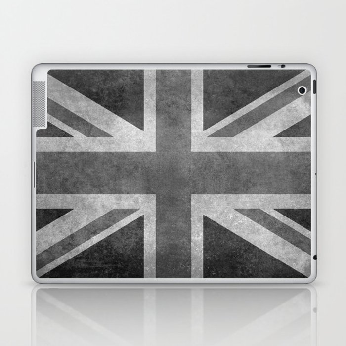 British Union Jack flag 1:2 scale retro grunge Laptop & iPad Skin