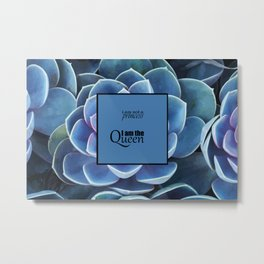 Princess and Queen succulents Metal Print