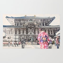 Toda-ji Temple Nara Japan Rug