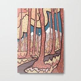 An autumn forest walk  Metal Print