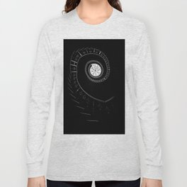 Spiral staircase in blck and white Long Sleeve T-shirt