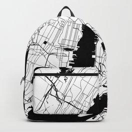 New York City White on Black Backpack
