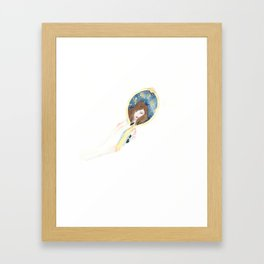Disappearing Past Self Framed Art Print