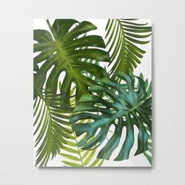 Palm and Monstra Metal Print