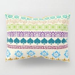 Swedish Sunshine Folk Art Pillow Sham