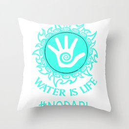 I stand with standing rock Throw Pillow