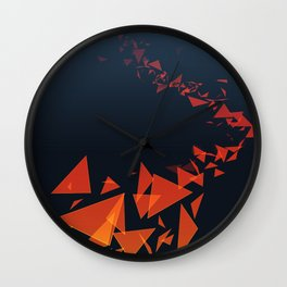 Submerged in Autumn Wall Clock