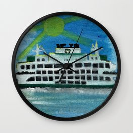 Sailing on Heavenly Seas Wall Clock
