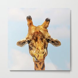 Impressive Animal - Giraffe 2 Metal Print