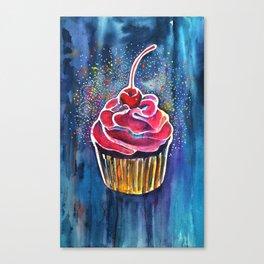 Rainbow Cupcake Canvas Print
