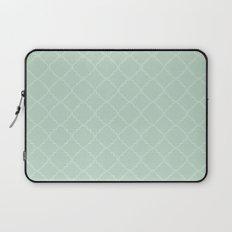 Quatrefoil - Mint Laptop Sleeve