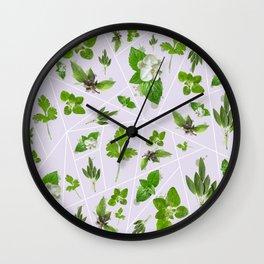 Herbs Wall Clock