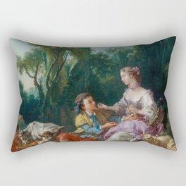 "François Boucher ""Are They Thinking about the Grape? (Pensent-ils au raisin)"" Rectangular Pillow"
