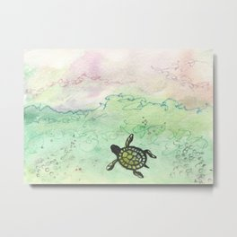 Odyssey Turtle Metal Print