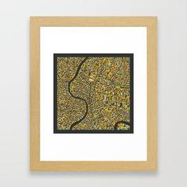 BANGKOK MAP Framed Art Print