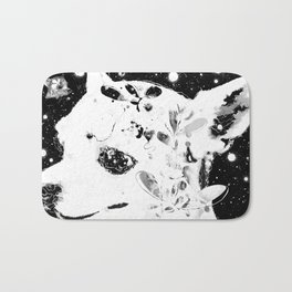 Stardust B&W * When will I join you? Bath Mat