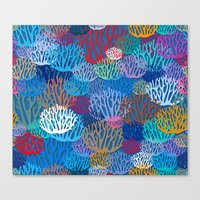 coral Canvas Prints featuring Coral by Helene Michau