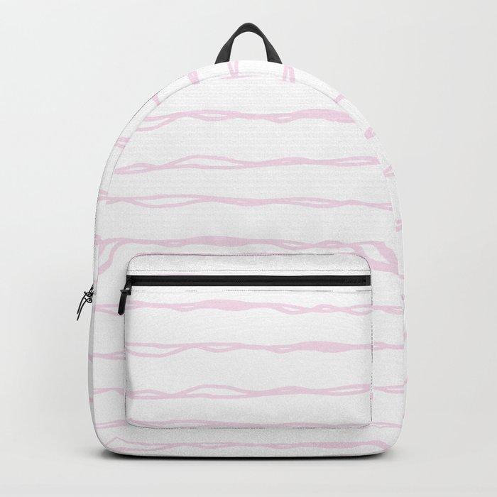 Simply Wavy Lines in Desert Rose Pink Backpack