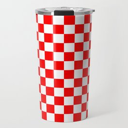 Jumbo Australian Racing Flag Red and White Checked Checkerboard Pattern Travel Mug