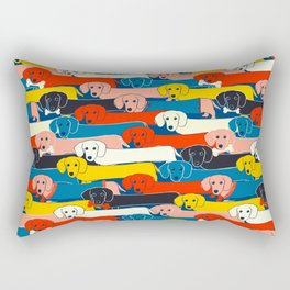 COLORED DOGS PATTERN 2 Rectangular Pillow