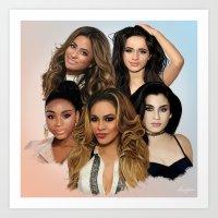 fifth harmony Art Prints featuring Fifth Harmony by Aaron Jason