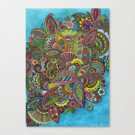Evie's Garden Paisley Canvas Print
