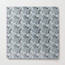 Romantic roses - Gray Metal Print